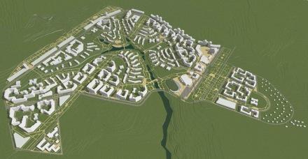 архитектор Михаил Топоров градостроительство архитектура концепция город Владимир планировка модель 3D эскиз изображение застройка жилье город